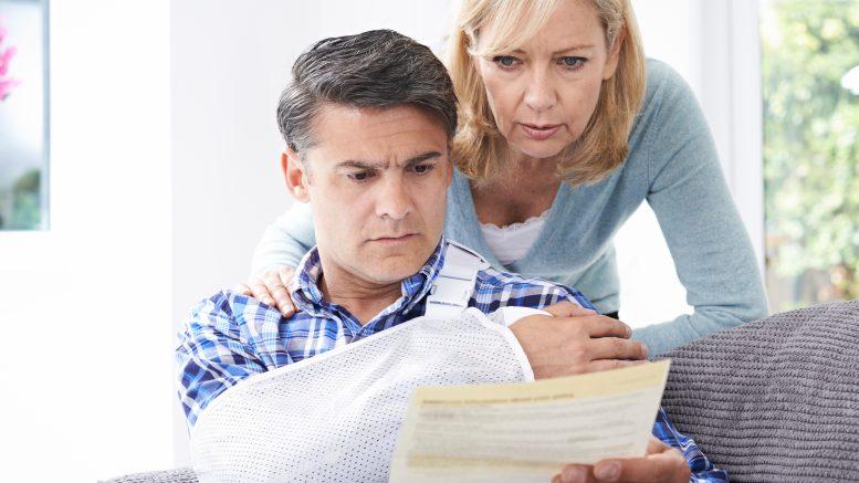 Man filing a personal injury claim
