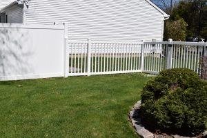 White vinyl backyard fences