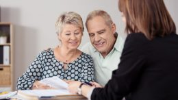 Old couple in an estate plan meeting