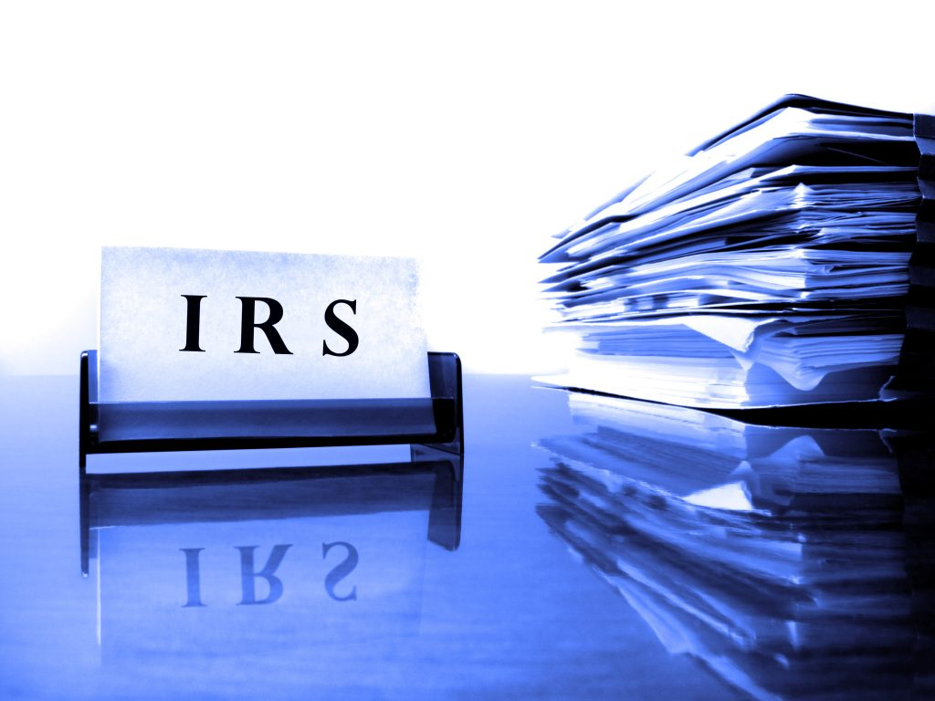 IRS card and tax files