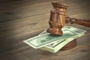 us dollars and a gavel