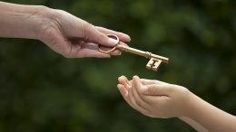 handing a key
