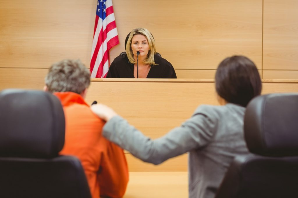 Female judge facilitating a trial