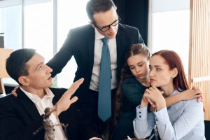 Family consulting with a family attorney