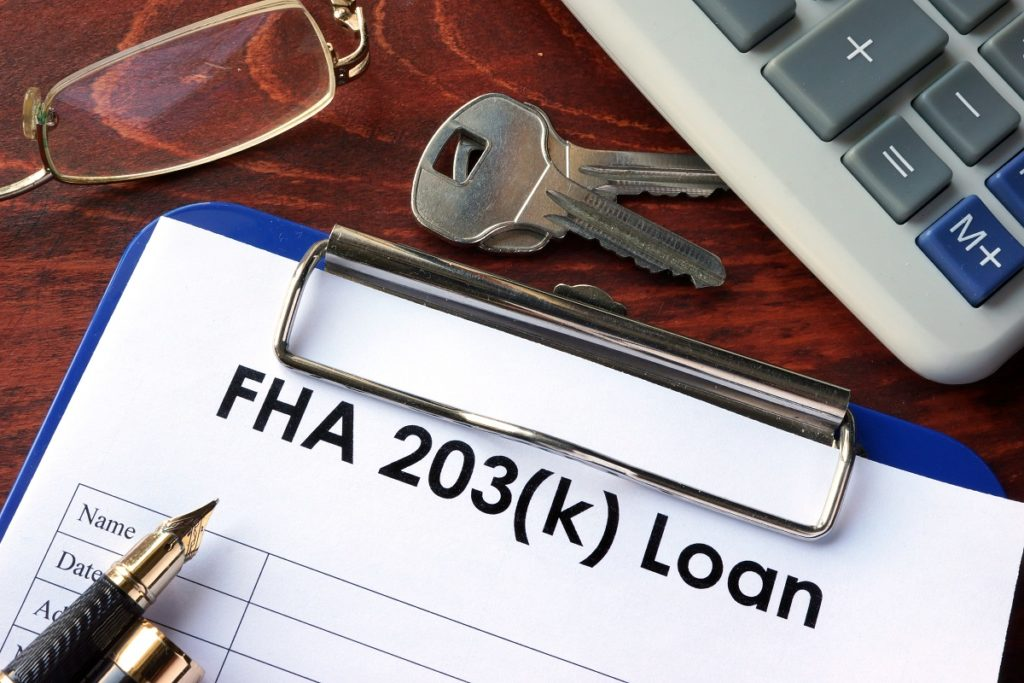 FHA 203k loan form