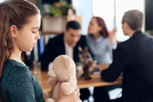 kid in a divorce proceeding